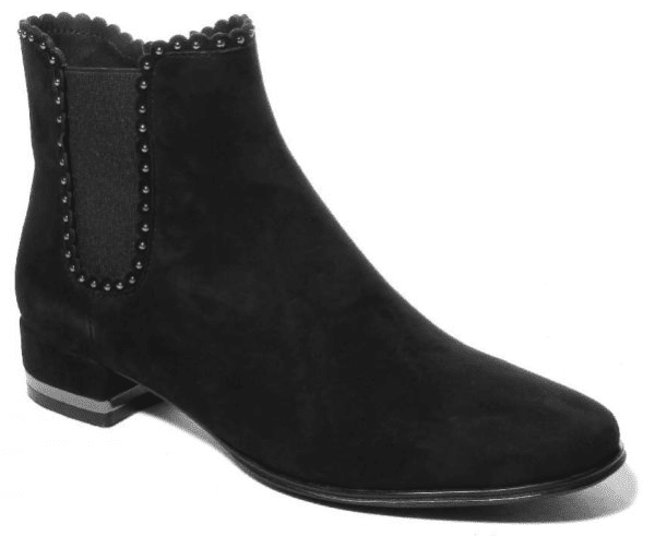 womens suede short black boots
