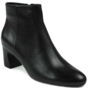 black nappa ankle boots