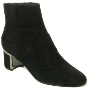womens black suede boot rich heels
