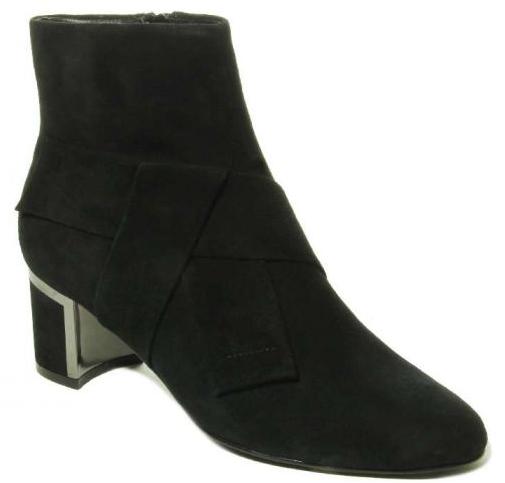 womens black suede boot rich heels