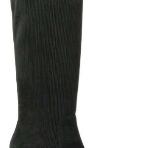 black corduroy suede boots