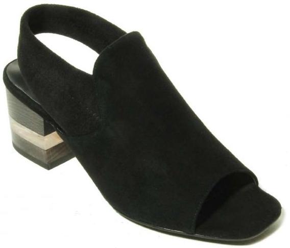 black suede slingback sandal