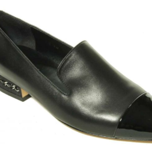 womens black nappa flats