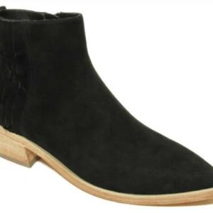 western black suede bootie