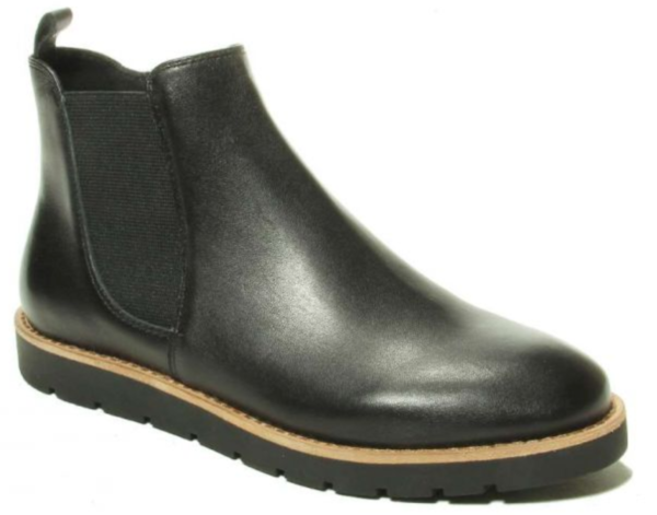 black nappa short boots