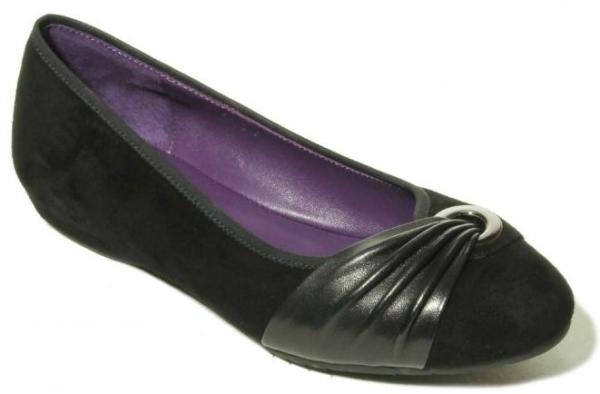 womens comfort black suede flats