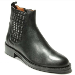womens black leather ankle boot
