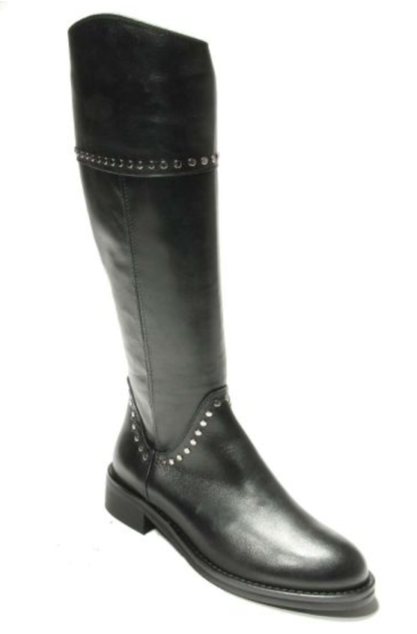 womens black leather boot