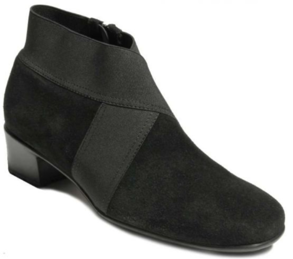 black suede waterproof ankle boot