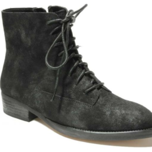 womens black suede bootie