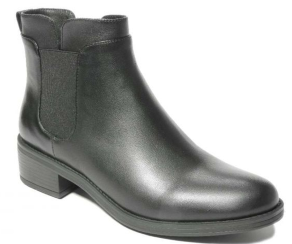 comfortable black nappa ankle boots