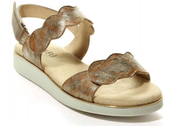 Vaneli Ellie Sandal in Taupe Multi Metallic