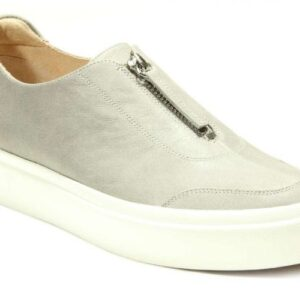 Vaneli Yolant Slip On in Light Grey Leather