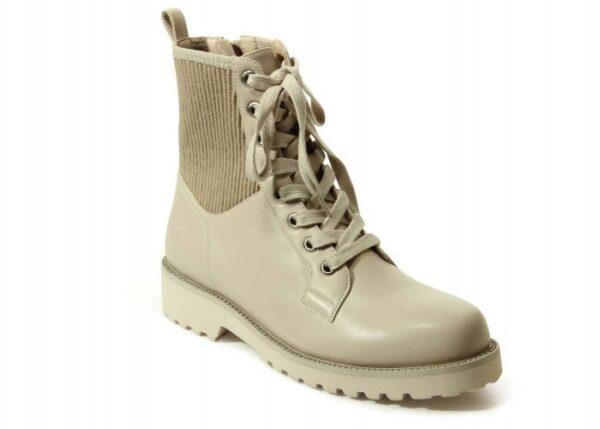 VANELi Zahra boots in bone weatherproof nappa